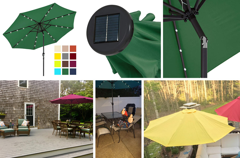 Best Choice Products 10ft Solar Led Lighted Patio Umbrella
