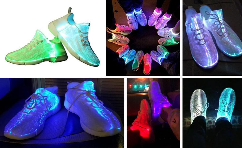 06b08801f3c9 Idea Frame Fiber Optic LED Light Up Shoe for Kids – Best Color-changing LED  Sneaker