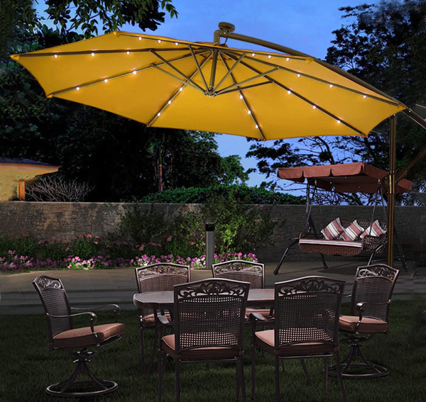 Best Patio Umbrella With Solar Lights, Patio Umbrellas With Solar Lights